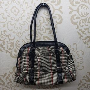 Chaps Houndstooth Purse- Black, White, and Red